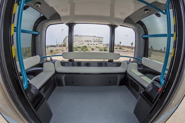 The interior of Olli. (Courtesy Local Motors/Olli)