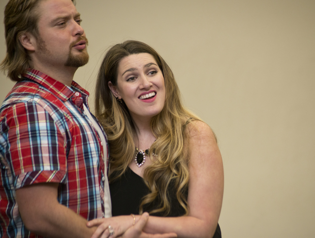 "Soprano Suzanne Vinnik and tenor Viktor Antipenko rehearse at UNLV for Opera Las Vegas' production of ""Carmen"" this weekend. Daniel Clark/Las Vegas Review-Journal Follow @DanJClarkPhoto"