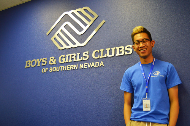 Karl Catarata, 18, poses for a picture in the clubhouses of the Boys & Girls Club of Southern Nevada. He is one of five students selected for the Bank of America Student Leaders program for th ...