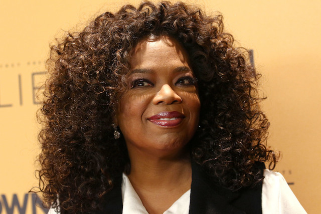 """Oprah Winfrey attends the premiere of the Oprah Winfrey Network's (OWN) documentary series """"Belief"""" at The TimesCenter in New York. (Greg Allen/Invision/AP)"""