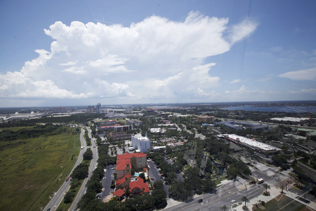 A view of Orlando is seen from The Eye of Orlando ride in Orlando, Fla., on Thursday, June 16, 2016.  (Rachel Aston/Las Vegas Review-Journal) Follow @rookie__rae