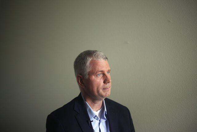 Sean Snaith, professor of economics at the University of Central Florida, talks to the Las Vegas Review-Journal on Thursday, June 16, 2016 at his home in Orlando, Florida. Rachel Aston/Las Vegas R ...