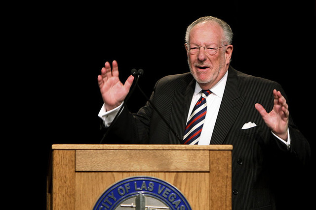 Former Las Vegas Mayor Oscar Goodman. (John Gurzinski/Las Vegas Review-Journal file)