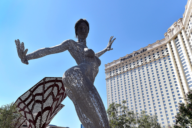 ҂liss DanceӠby artist Marco Cochrane is seen in The Park near the Monte Carlo hotel-casino Friday, June 3, 2016, in Las Vegas. MGM Resorts International announced the Monte Carlo will be transfo ...