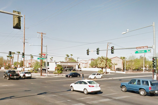 Pecos Rd & Owens Ave, North Las Vegas (Google Street View)