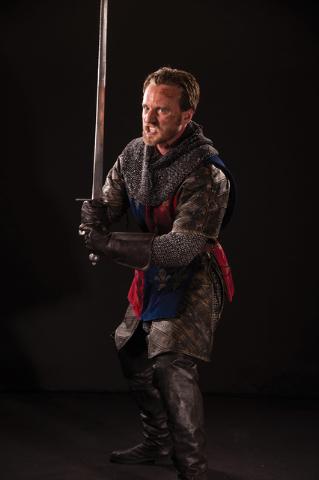 "In ""Henry V,"" opening next week at the Utah Shakespeare Festival, the title monarch (Sam Ashdown) leads his troops into battle. (Karl Hugh/Utah Shakespeare Festival)"
