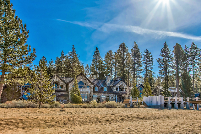 The estate has 378-foot stretch of sandy beach. (COURTESY)