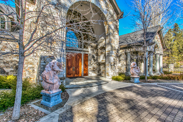 It includes eight bedroom suites, most with fireplaces and lakeside terraces; grand foyer; great room; gourmet kitchen with butler's pantry; formal dining room; wine room with seating; craft roo ...