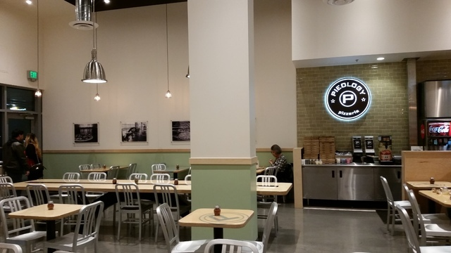 Spacious seating is offered inside Pieology at Downtown Summerlin. View file photo