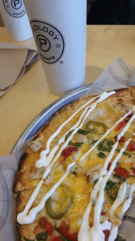 The Spicy Southwestern pizza, available through July, is shown at Pieology in Downtown Summerlin. Lisa Valentine/View