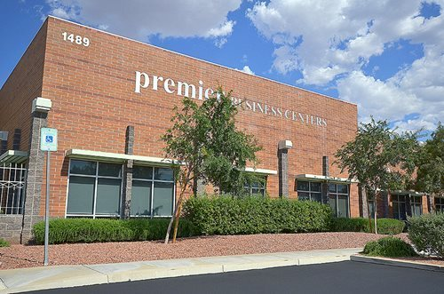 Augusta Park center at 1489 W. Warm Springs Road in Henderson. Courtesy of Premier Business Centers