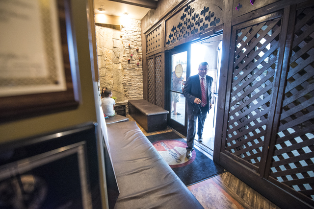 Democratic Congressional District 3 candidate Jesse Sbaih walks into Origin India Restaurant in Las Vegas during a campaign event on Tuesday, June 14, 2016. Joshua Dahl/Las Vegas Review-Journal