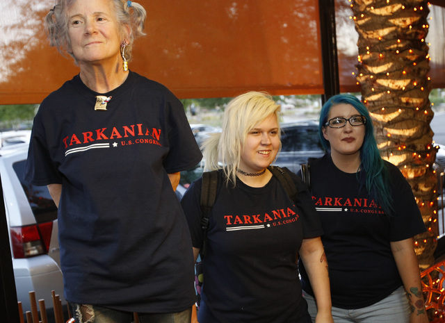 Supporters of Republican Congressional District 3 candidate Danny Tarkanian wait for results during his election night gathering at Born and Raised in Las Vegas on Tuesday, June 14, 2016. (Richard ...