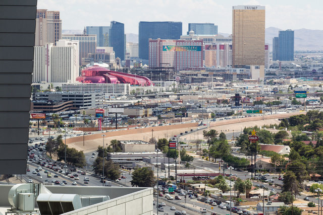 Project Neon, the freeway widening and improvement project, will affect Interstate 15 from Sahara Avenue to the Spaghetti Bowl. (Chase Stevens/Las Vegas Review-Journal)