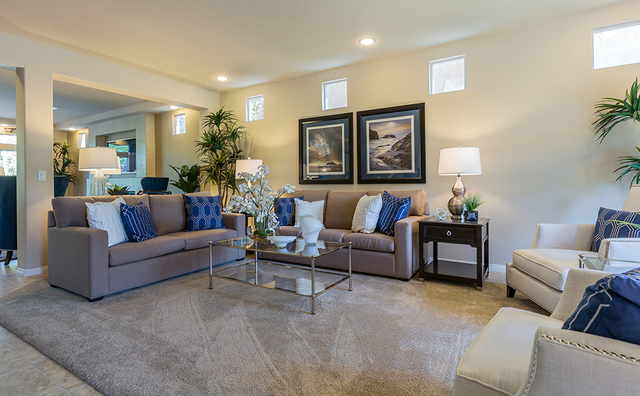 Caren Polland With Las Vegas Based Colour Concepts Decorated The Fox Hill Estate Model Homes