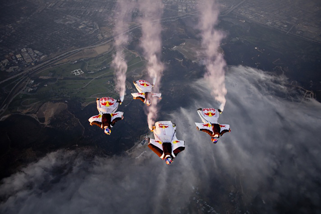 Red Bull Air Force skydiving team (Courtesy)