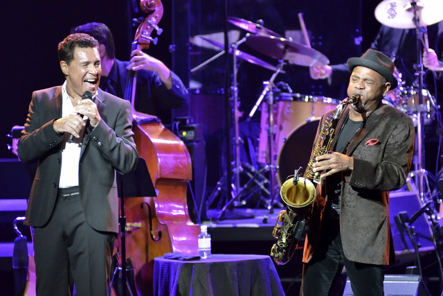 "Clint Holmes, left, is returning to the Strip with a new show called ""Between the Lines"" debuting in the Palazzo on July 16. (Bill Hughes/Las Vegas Review-Journal)"