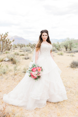 Suzanne Vinnik on her wedding day at Spring Mountain Ranch State Park May 28. (Heather Farias/Urban Whimsy Photography)