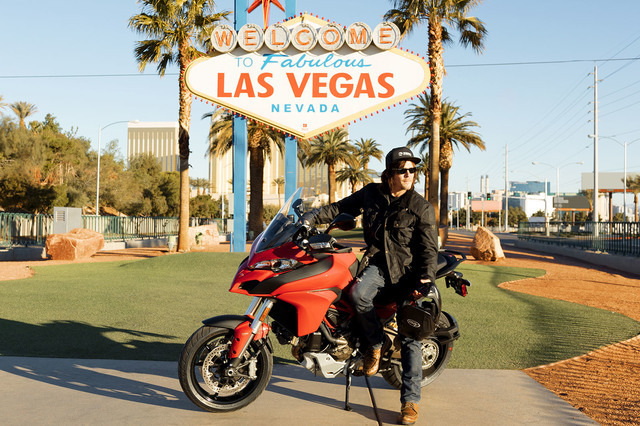 "Norman Reedus visits Las Vegas for an episode of his motorcycle travelogue ""Ride with Norman Reedus."" (Mark Schafer/AMC)"