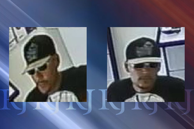 Police are searching for a man who robbed a MetroPCS store at 4160 E. Sahara Ave. at knifepoint last week. (Las Vegas Metropolitan Police Department)