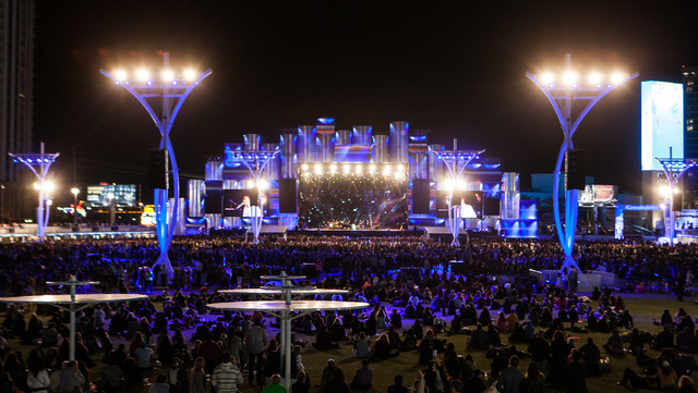 The site of the Rock in Rio USA music festival in Las Vegas on is shown on Saturday, May 16, 2015. (Chase Stevens/Las Vegas Review-Journal) Follow Chase Stevens on Twitter @csstevensphoto