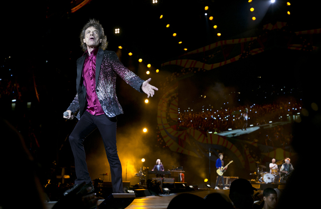 Mick Jagger of The Rolling Stones performs in Havana, Cuba, Friday March 25, 2016. (AP Photo/Enric Marti)