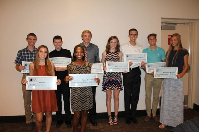 High school members received scholarships Saturday from the Las Vegas Track Club. (Courtesy Phil Lawton)