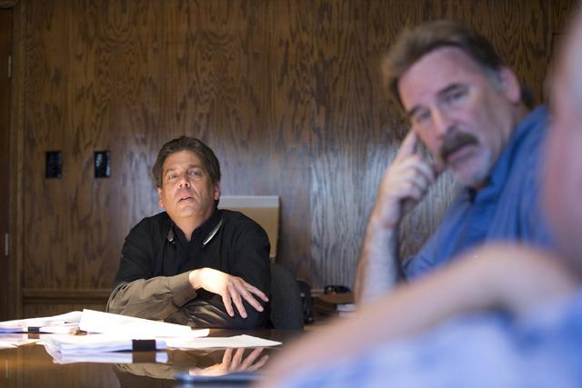 Attorney Adam Levine speaks on alleged misconduct in the Clark County School District Police Department June 10, 2016. (Erik Verduzco/Las Vegas Review-Journal) Follow @Erik_Verduzco
