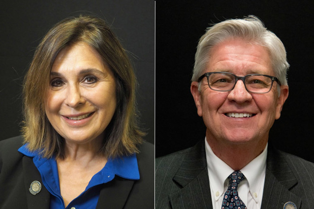 Candidates for state senate district 6, from left, Republicans Victoria Seaman and Erv Nelson. . (Las Vegas Review-Journal)