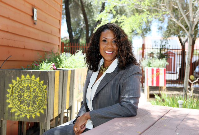 Sandra Owens, associate professor at UNLV School of Social Work, sits for a photo at Nevada Senior Services' Adult Day Care Center Wednesday, June 1, 2016, in Las Vegas. (Ronda Churchill/Las Vegas ...