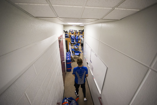 Las Vegas 51s player Paul Sewald walks through the clubhouse ahead of a game against the El Paso Chihuahuas at Cashman Field in Las Vegas on Friday, May 13, 2016. (Chase Stevens/Las Vegas Review-J ...