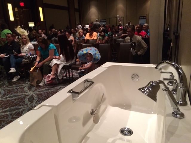 """People brought everything from small items to large ones May 19, 2016, to help demonstrate their product for """"Shark Tank"""" auditions. At Red Rock Resort, 100 people filled the room as the first wav ..."""
