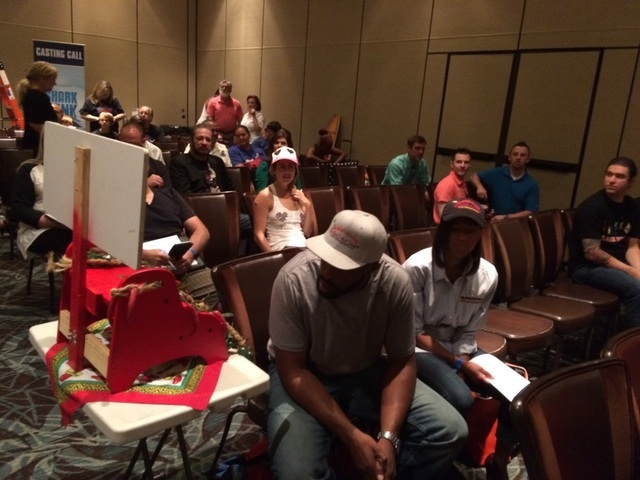 """The wait inside the conference room May 19, 2016, at Red Rock Resort for """"Shark Tank"""" auditions was nearly as long as the line outside as people from all over the country came to pitch their busin ..."""