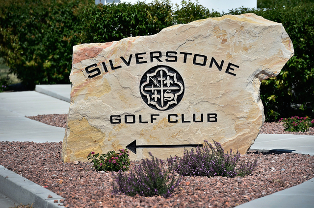 A monument sign directs people to the Silverstone Golf Club Monday, May 23, 2016, in Las Vegas. (David Becker/Las Vegas Review-Journal) Follow @davidjaybecker