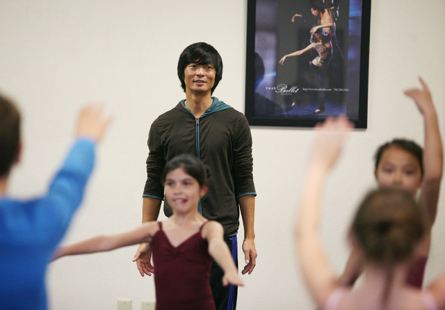 "Artistic director Kyudong Kwak oversees a rehearsal at the Las Vegas Ballet Company Nov. 23, 2013. Kwak Ballet Company is set to perform ""Sleeping Beauty Act III — Aurora's Wedding"" June 1 ..."
