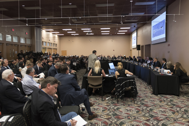 A Southern Nevada Tourism Infrastructure Committee meeting takes place at the Stan Fulton Building at UNLV in Las Vegas Thursday, June 23, 2016. (Jason Ogulnik/Las Vegas Review-Journal)
