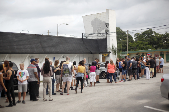 A long line is seen outside the gay nightclub Southern Nights on Wednesday, June 15, 2016 in Orlando, Florida. (Rachel Aston/Las Vegas Review-Journal Follow @rookie__rae)