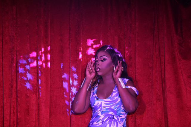 Tashae Royale Sherrington performs at a fundraiser for Pulse nightclub staff at the gay nightclub Southern Nights on Wednesday, June 15, 2016 in Orlando, Florida. (Rachel Aston/Las Vegas Review-Jo ...