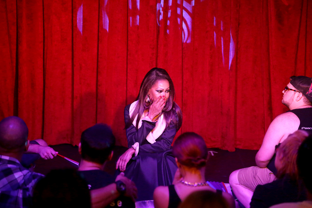 Tasha Long performs at a fundraiser for Pulse nightclub staff at the gay nightclub Southern Nights on Wednesday, June 15, 2016 in Orlando, Florida. (Rachel Aston/Las Vegas Review-Journal Follow @r ...