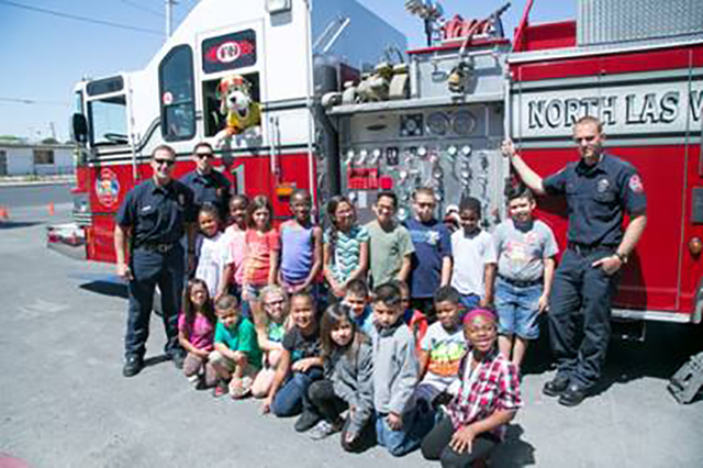 On June 13, 2016, Sparky the Fire Dog, the official mascot of the National Fire Protection Association hosted an assembly at the James Clubhouse of Boys & Girls Clubs of Las Vegas to share bas ...