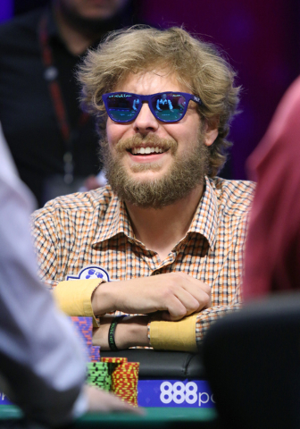 """Ben Keeline won the World Series of Poker's """"Colossus II"""" No-limit Hold 'em tournament late Tuesday at the Rio Convention Center to earn the $1 million first prize.. (Ronda Churchill/Las Vegas Rev ..."""
