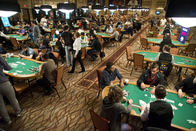 Players compete during the World Series of Poker at the Rio hotel-casino convention center in Las Vegas on Thursday, June 23, 2016. (Daniel Clark/Las Vegas Review-Journal) Follow @DanJClarkPhoto