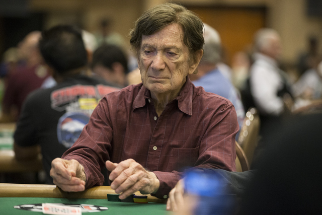 Norman Spivock, 92, plays in the World Series of Poker tournament at the Rio Convention Center on Wednesday, June 15, 2016, in Las Vegas. (Erik Verduzco/Las Vegas Review-Journal) Follow @Erik_Verduzco
