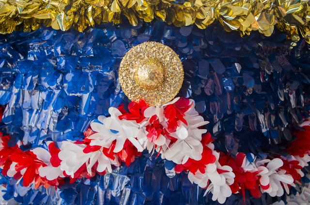 A decorated float for Summerlin Council Patriotic Parade is seen at the Trails Community Center on Monday, June 27, 2016. (Jeff Scheid/Las Vegas Review-Journal) Follow @jlscheid