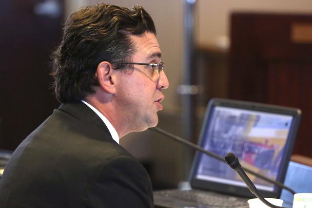 Jeremy Aguero, principal analyst for Applied Analysis.  (Jeff Scheid/Las Vegas Review-Journal) Follow @jlscheid