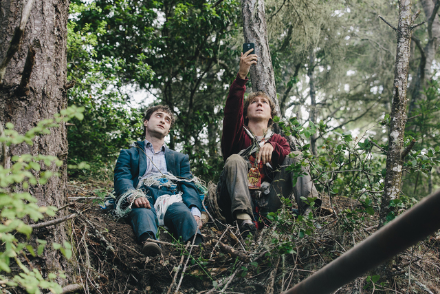 Daniel Radcliffe, left, and Paul Dano in SWISS ARMY MAN. (Photo courtesy of A24)