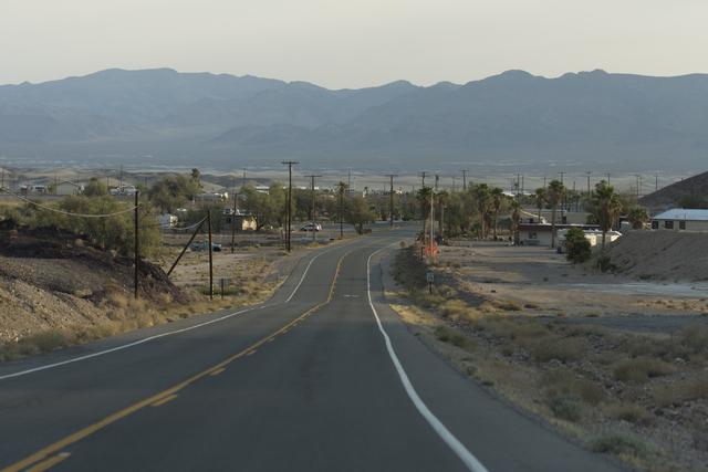 Properties along Tecopa Hot Springs Road in Tecopa, Calif. are seen Tuesday, June 21, 2016.  (Jason Ogulnik/Las Vegas Review-Journal)