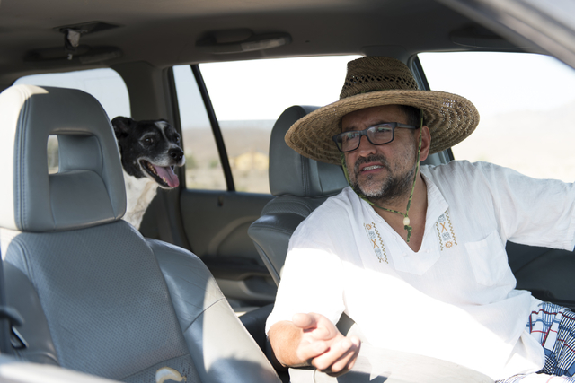 Carlo Roncancio speaks with a reporter about acquiring potable water in Tecopa, Calif. Tuesday, June 21, 2016. (Jason Ogulnik/Las Vegas Review-Journal)