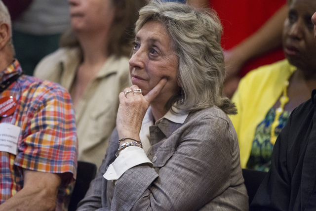 Congresswoman Dina Titus, D-Nev., attends a candle light vigil honoring the victims of the Orlando mass shooting at the The Gay and Lesbian Community Center of Southern Nevada on Sunday, June 12,  ...