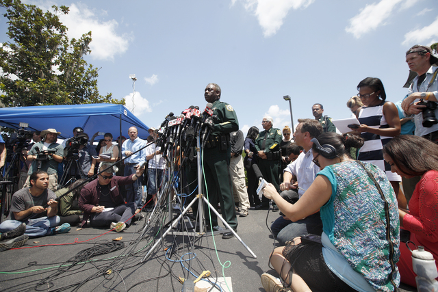 Orange County Sheriff Jerry L. Demings speaks to the press at the Disney Resort on Wednesday, June 18, 2016 in Orlando, Florida. (Rachel Aston/Las Vegas Review-Journal) Follow @rookie__rae